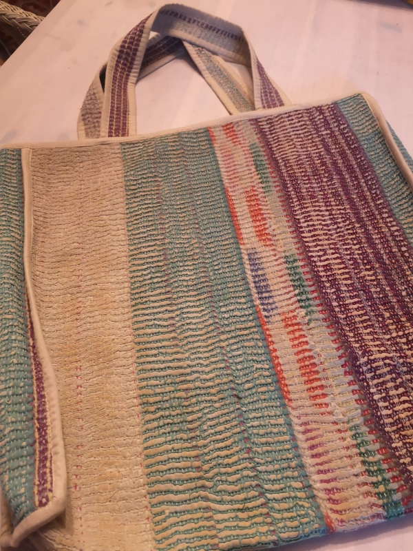 Earthy thick stripe kantha bag.jpg